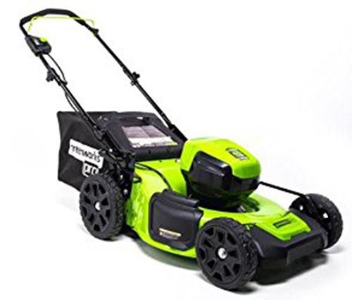 Greenworks Pro 60-volt Brushless Lithium-Ion 21-in-Cordless Electric Lawn Mower-(Battery and Charger are not Included