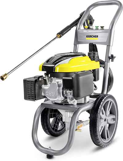 gas pressure washer with electric start