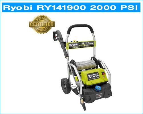 ryobi 2000 psi pressure washer