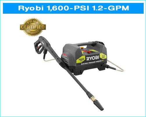 ryobi 1600 psi pressure washer manual